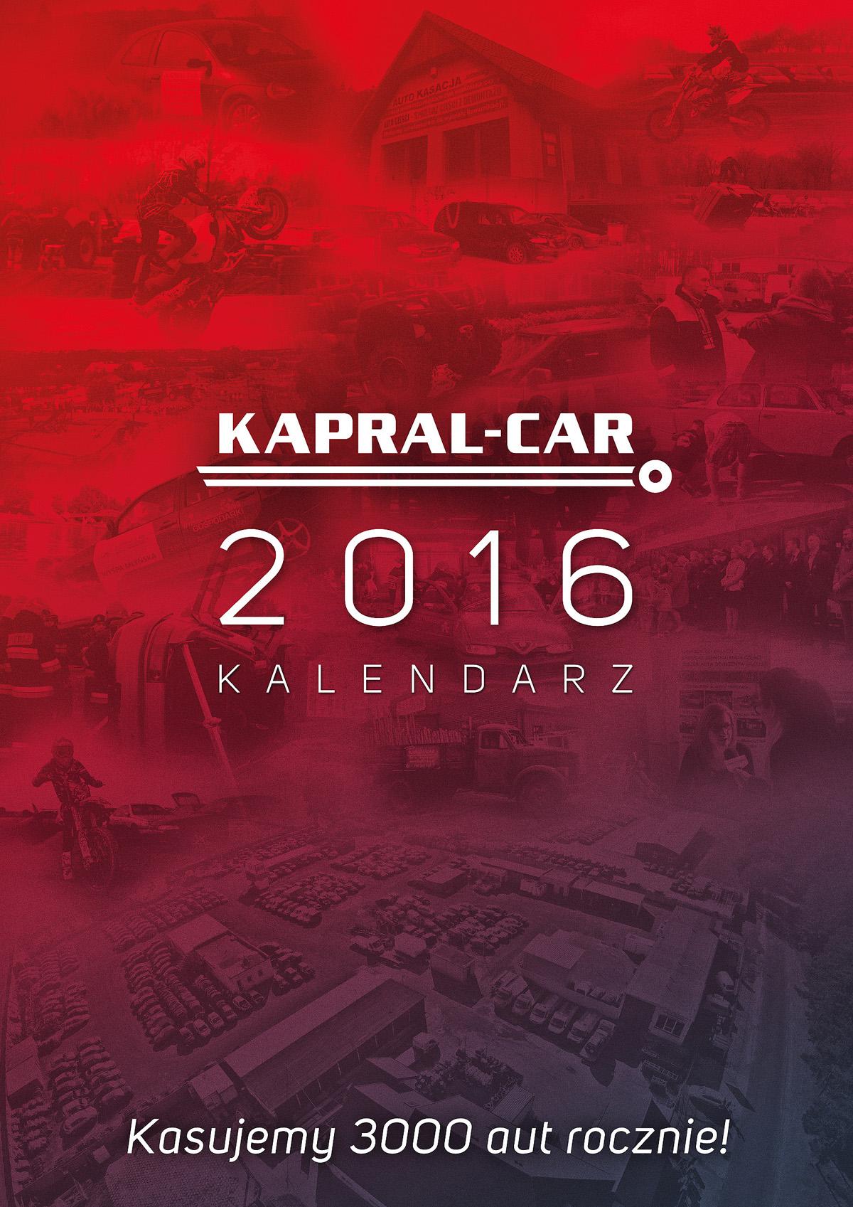 Kalendarz Kapral-Car 2016 Okładka