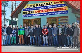 Zespół Szkół Żeglugi Śródlądowej w Nakle nad Notecią z wizytą w Kapral-Car