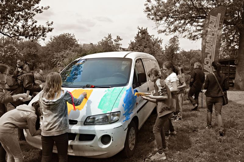 StreetArt Łabiszyn 2015 z Kapral-Car