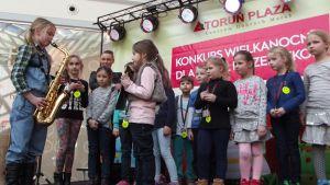 Promocja odblasków w galerii handlowej Toruń Plaza