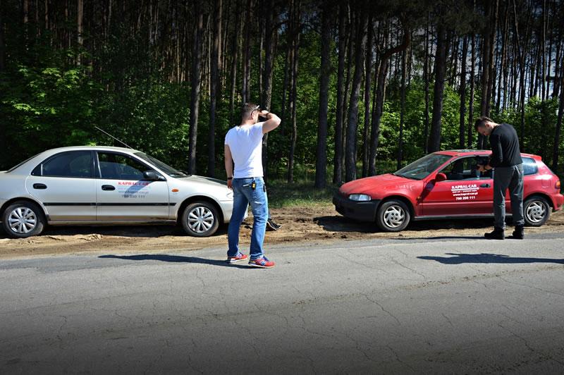 Plan filmowy w siedzibie Kapral-Car – akcja społeczna prowadź trzeźwy
