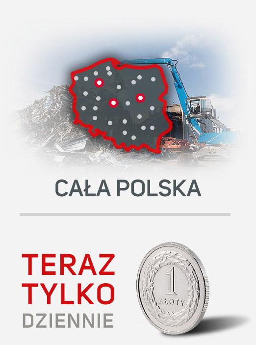 Sieć Zbierania Pojazdów Kapral-Car w całej Polsce za 1zł dziennie