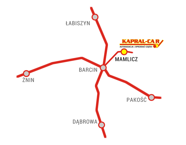Mapa dojazdu do Kapral-Car