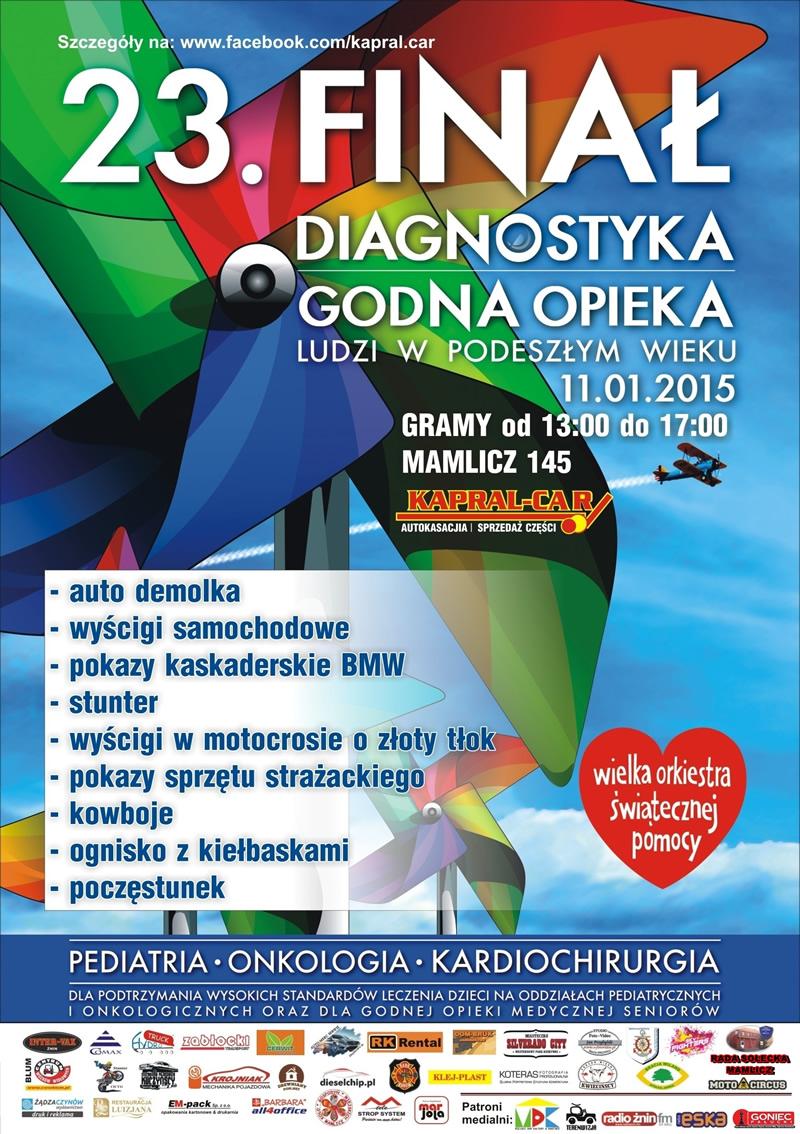 Plakat - 23 Finał WOŚP razem z Kapral-Car